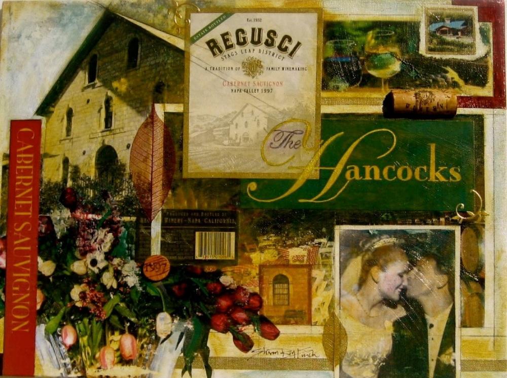 "'The Hancocks' Wedding Anniversary, mixed medium, 12"" x 16"""