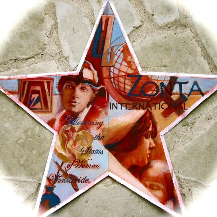 "Zonta Star,  available as 6"" ornament, or 12"",18"",30"" Barn Star"