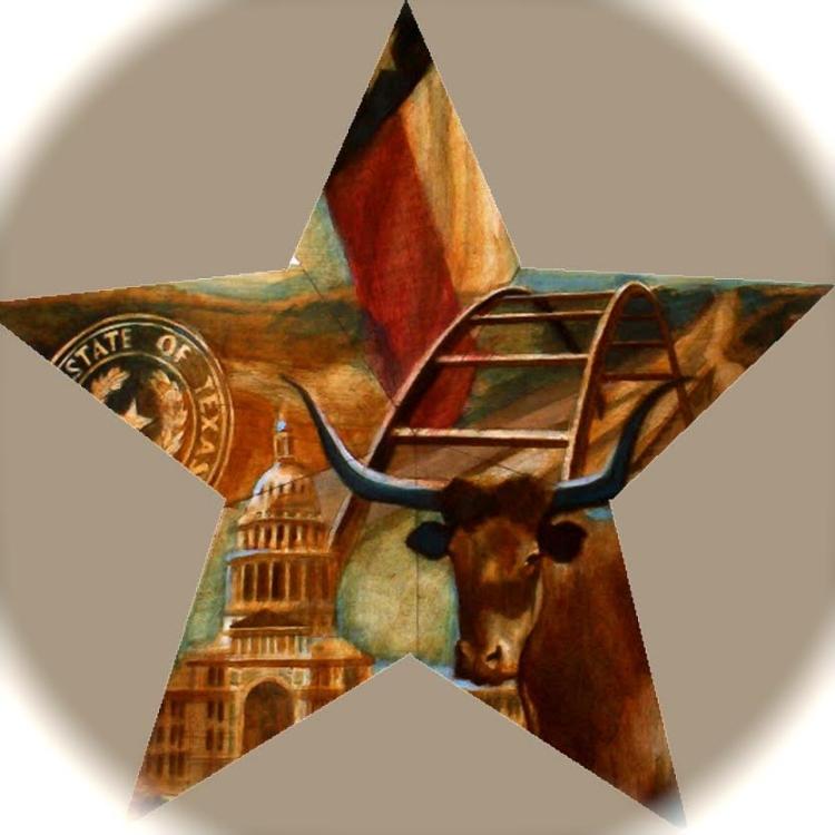 """'Austin Star,  available as 6"""" ornament, or 12"""",18"""",30"""" Barn Star"""