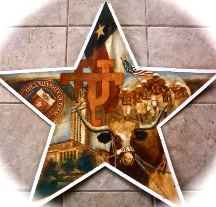 "'UT Star,  available as 6"" ornament, or 12"",18"",30"" Barn Star"
