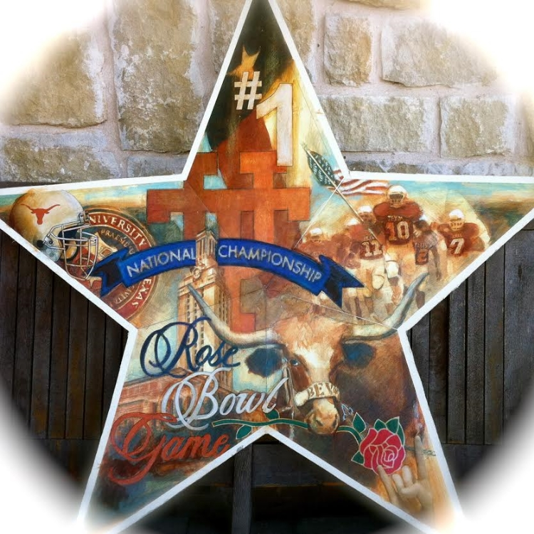 "'Rosebowl Star,  available as 6"" ornament, or 12"",18"",30"" Barn Star"