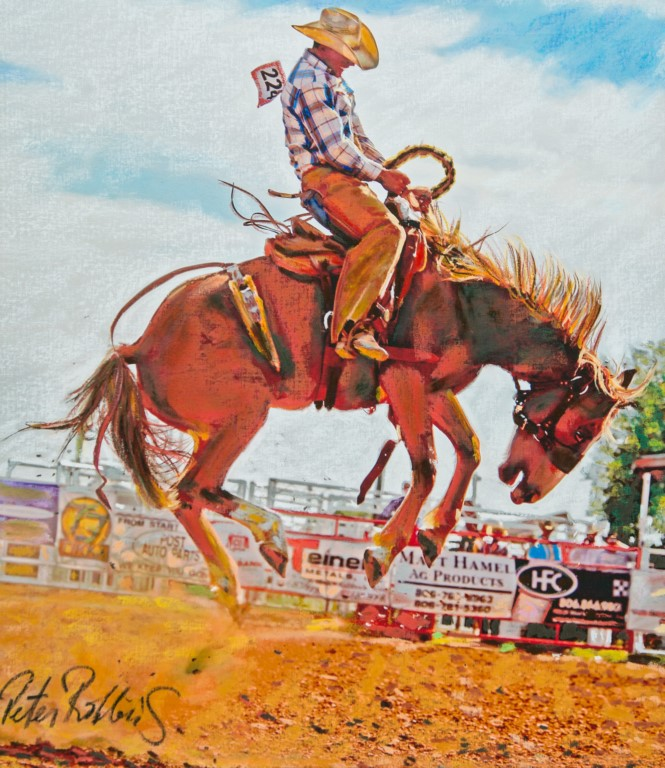Tanner On the Bronc