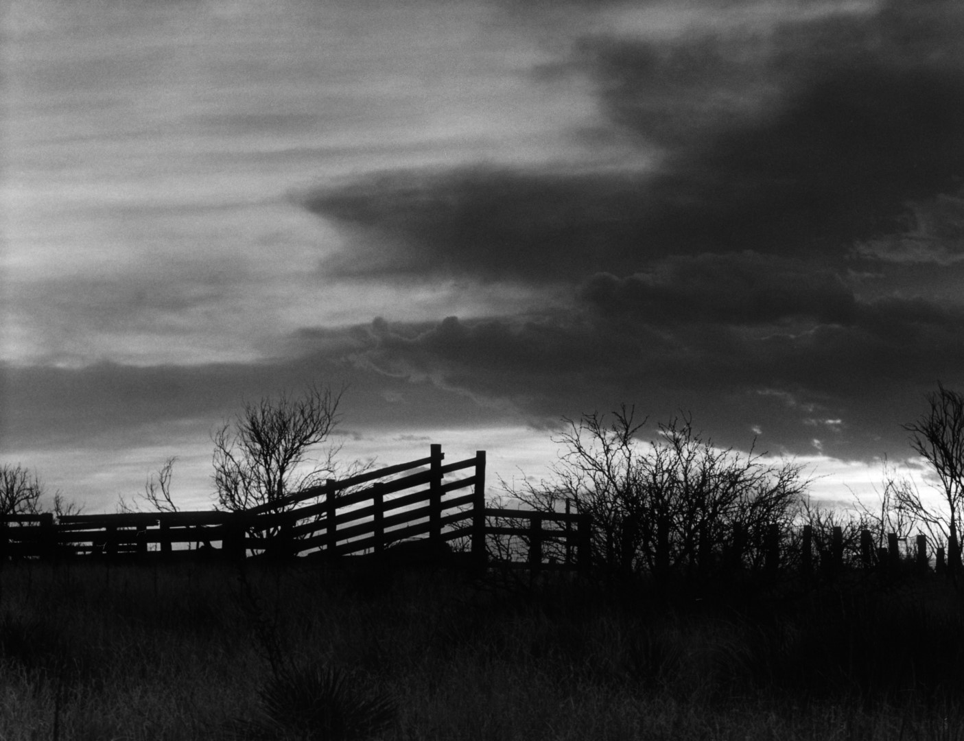 Corral at Sunset