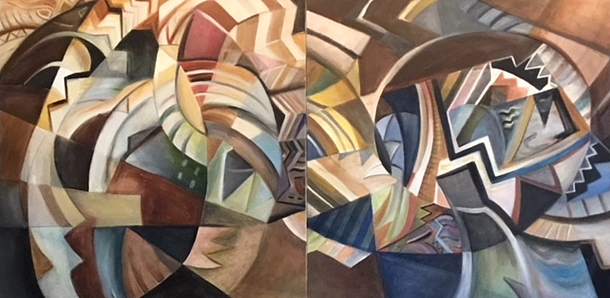 Picasso Meets Hemingway (Diptych)