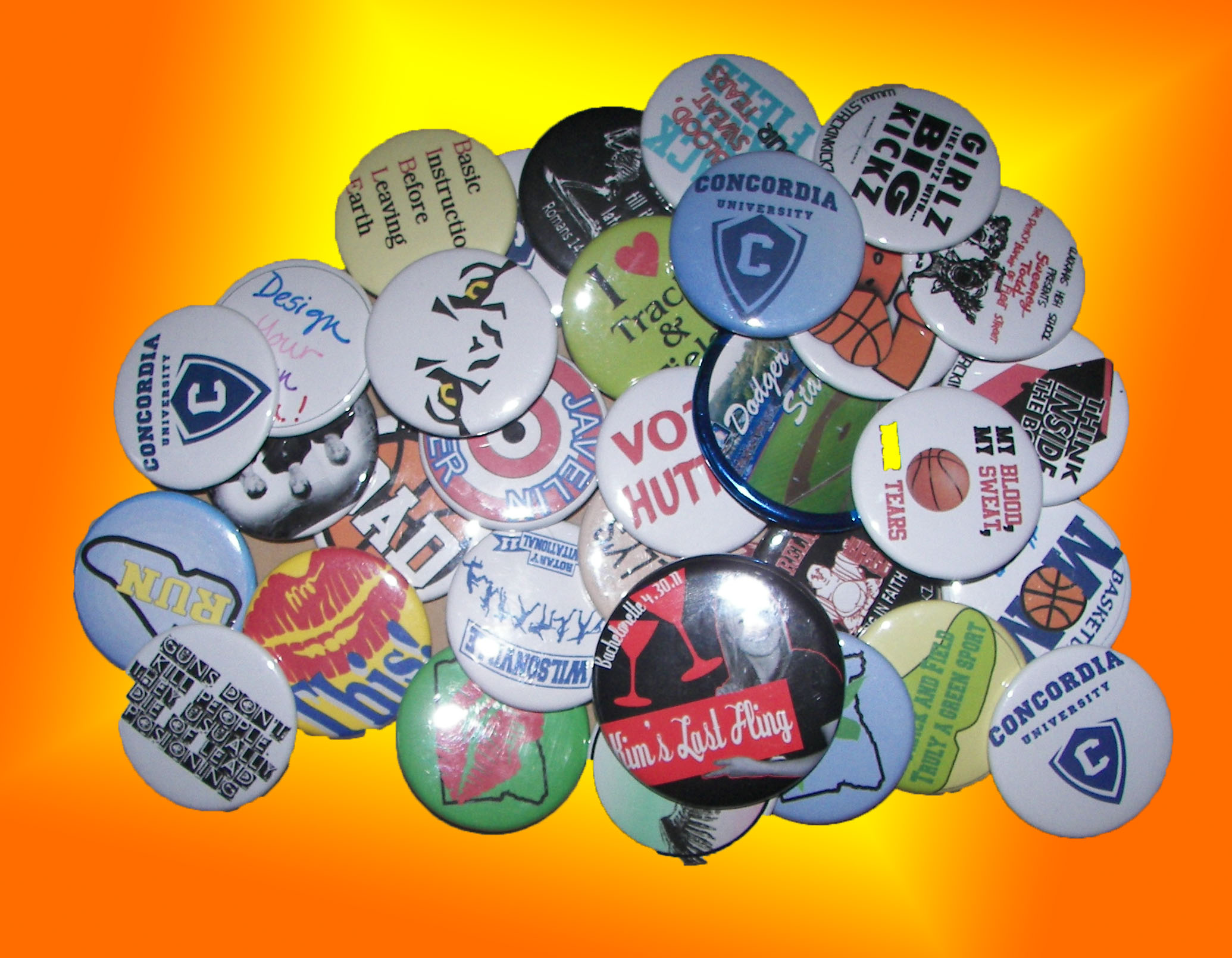 Buttons, Buttons, who has custom made buttons in Portland.