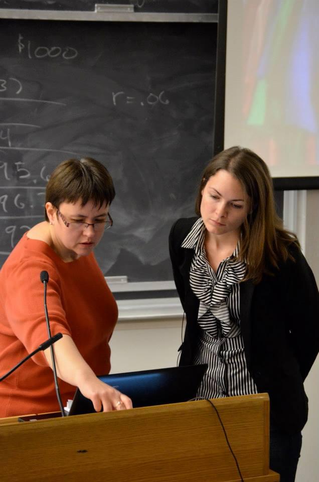 Faculty Advisor, Dr. Mary Silcox and Director Jess Davidson