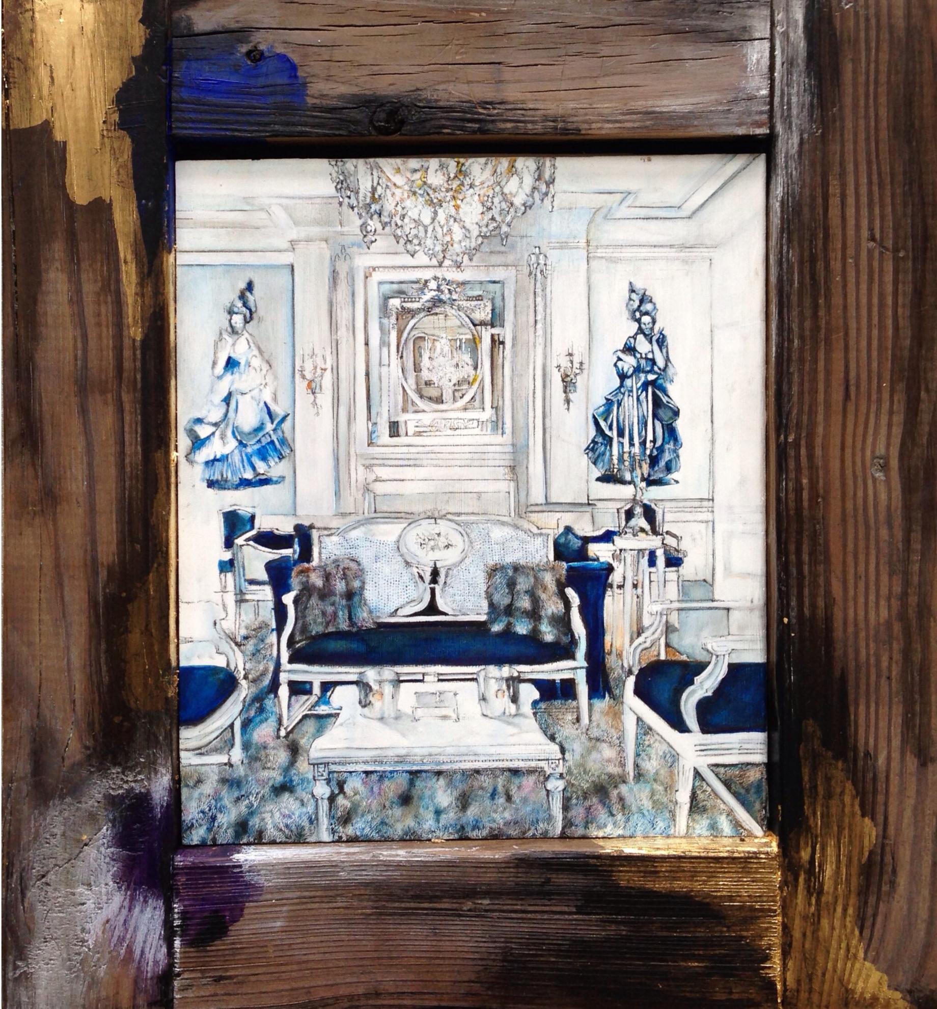 """Ruben's , 2012. Oil on wood. 16.75"""" x 15.25"""""""