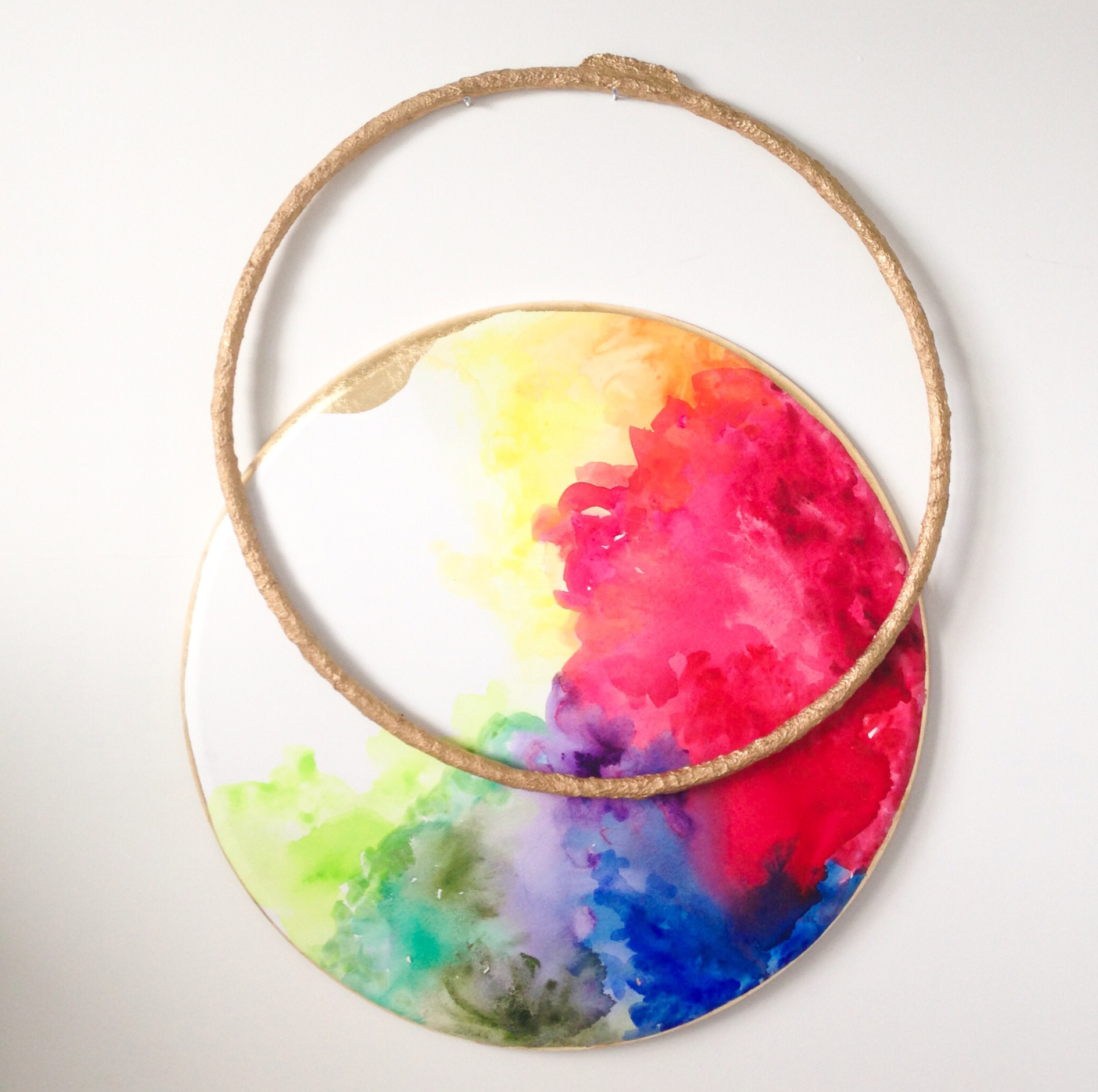 "Circle of life , 2013. Mixed media. 40"" Tondo"