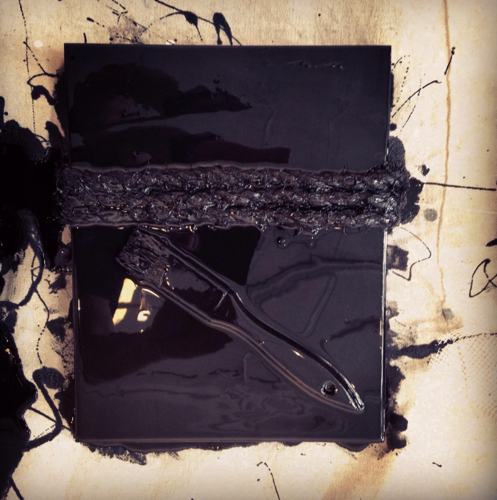 """Oscura inspiración , 2013. Mixed media. 10""""x8"""""""