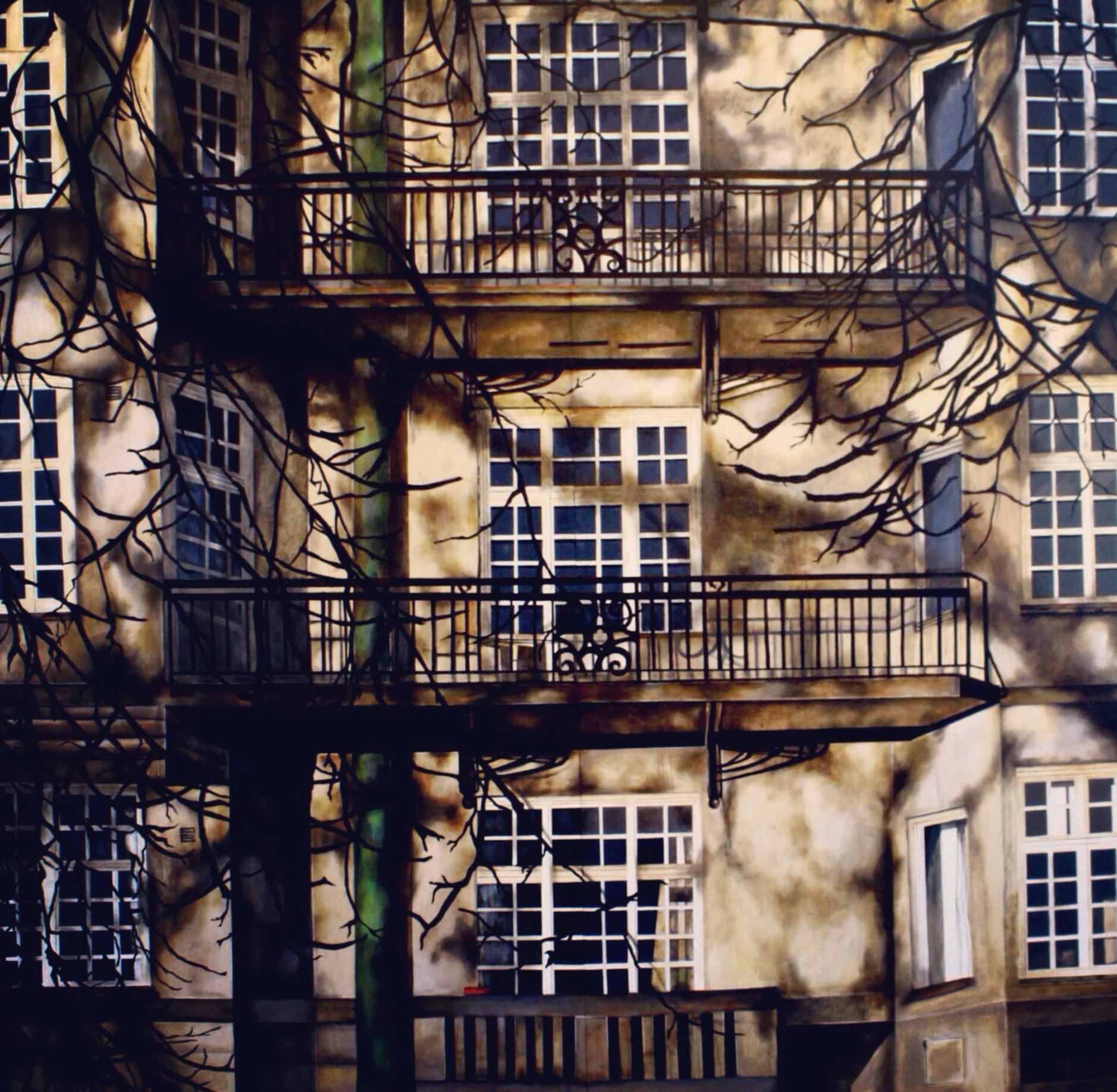 """La pared de mi espacio , 2012. Oil on wood. 72"""" x 72"""""""