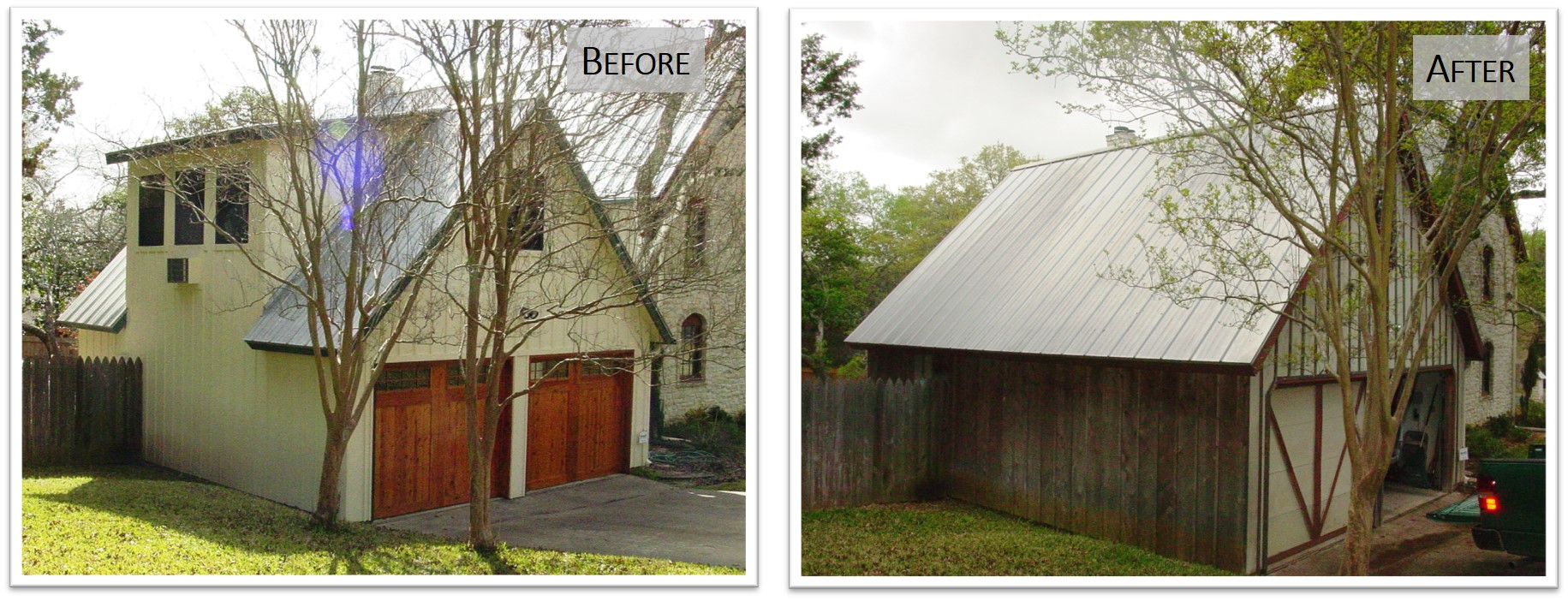 4802 WB, Garage Side, Before and After, Bear Creek Homes.jpg
