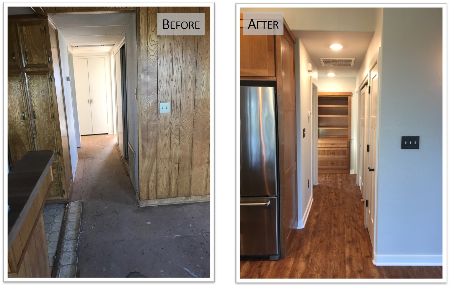 910 PLL, Interior Hall, Before and After, Bear Creek Homes.jpg