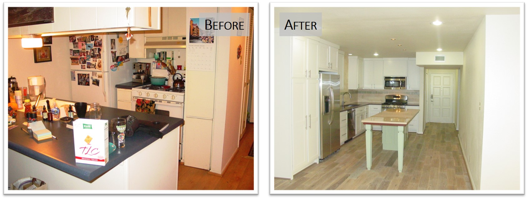 3431 NH, Kitchen, Before and After, Bear Creek Homes.jpg