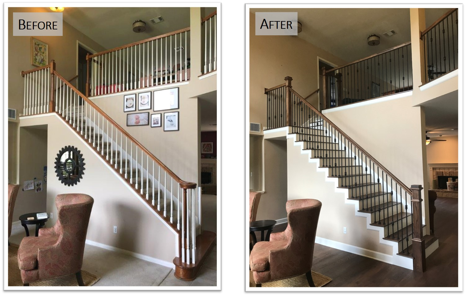 5109 JC, Stair, before after, Bear Creek Homes.jpg