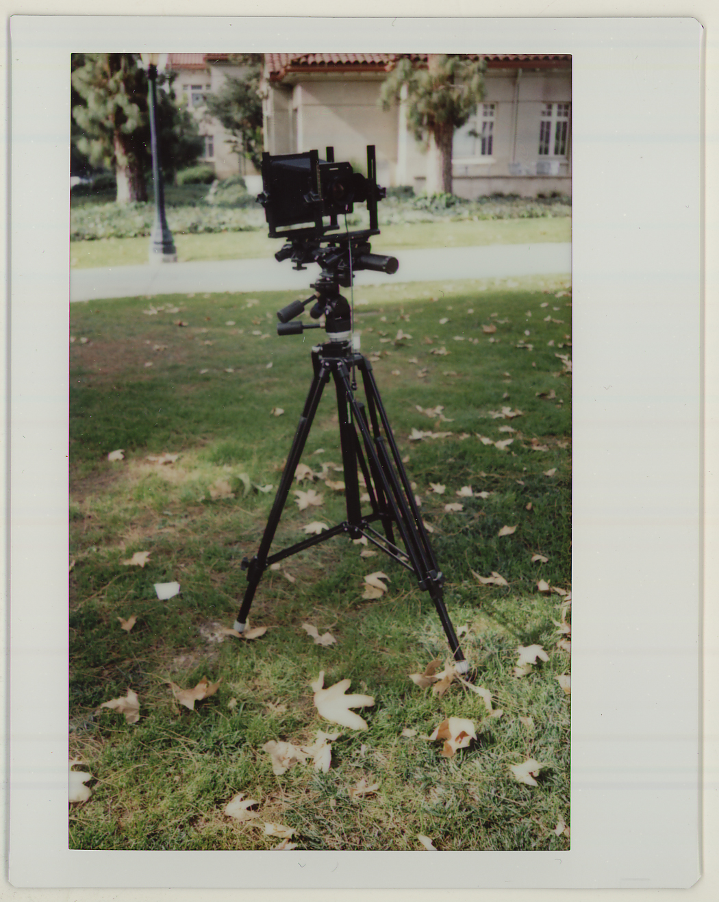 "January 28, 2015 - There are six 4x5 camera kits. Besides this type, there are smaller 4x5 field cameras that we used as well. This was taken on one of the last days of ""Jan Term"" with my FujiFilm instax210."