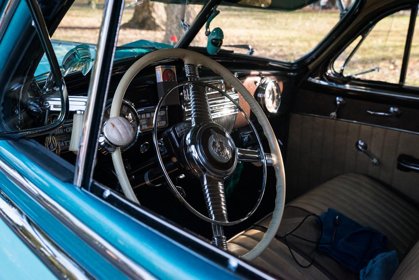 Interior of 1948 Pontiac Silver Streak