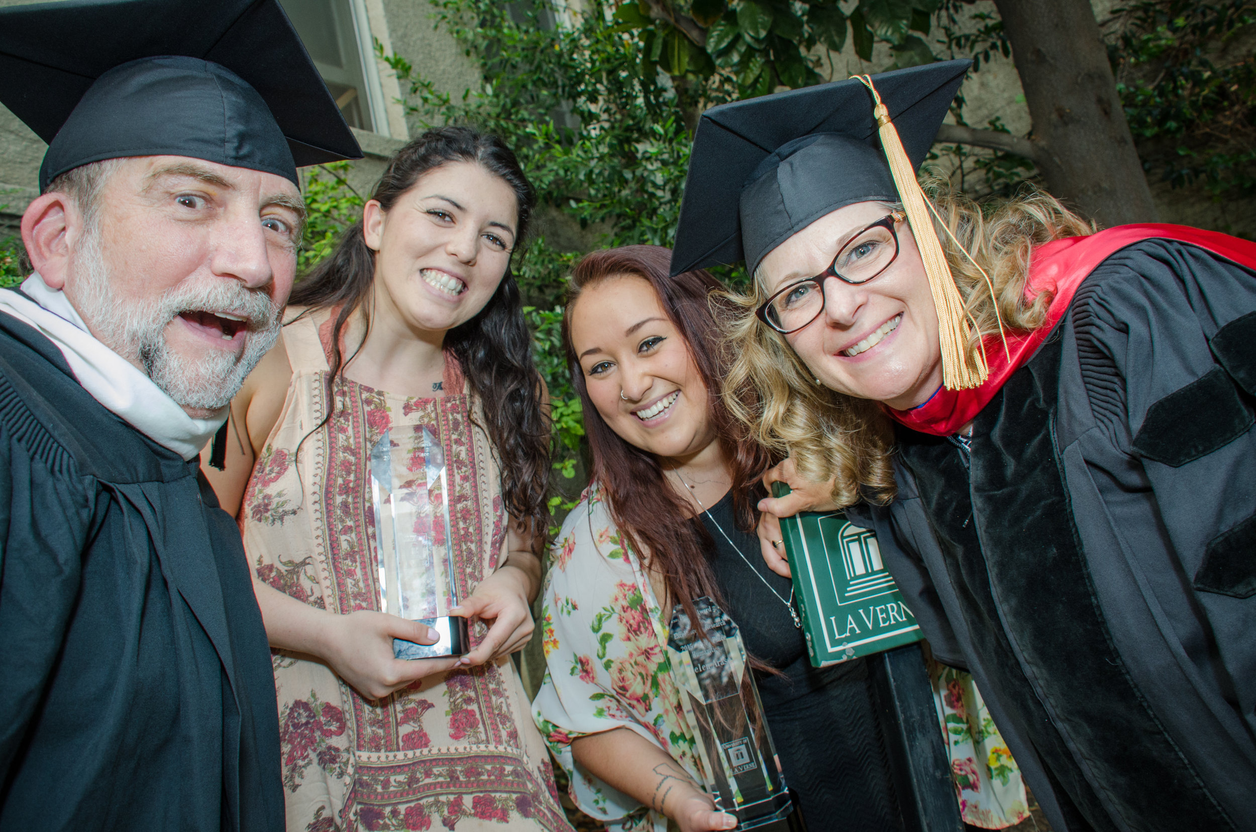 Gary Colby, photography department chair, photojournalism degree adviser and real-life best human in the world; Austen Beck, Arts category winner; me; Stacey McCarroll Cutshaw, visiting professor of photography - Dean's Award for Excellence in Undergraduate Research ceremony, May 2015