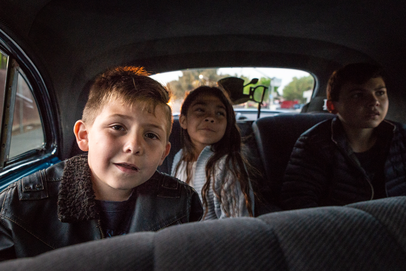 The Rodriguez kids love to cruise. They've already started fighting about who gets which lowrider when they're old enough to drive.