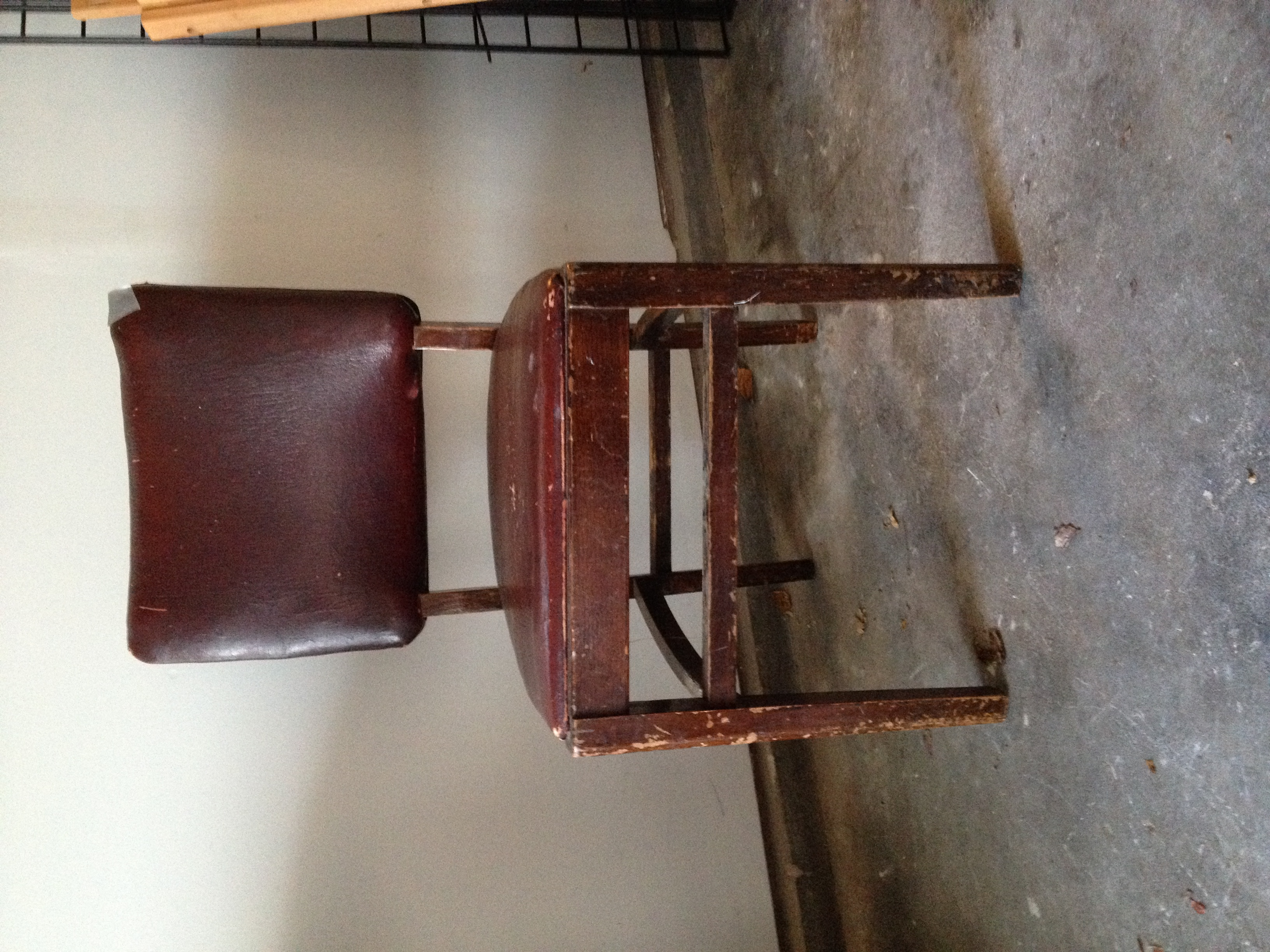 Heres' how the chair looked when I picked it up in November.