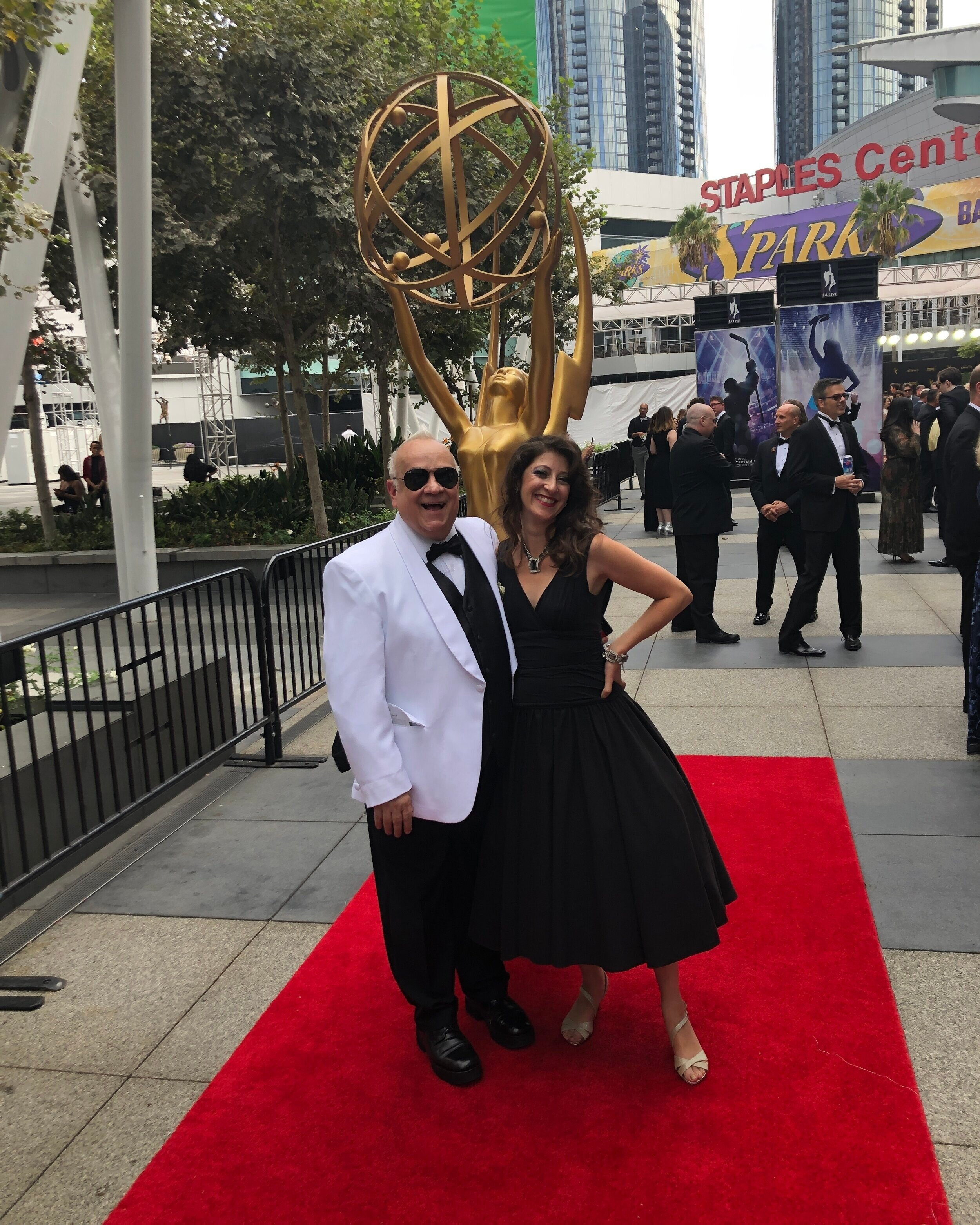 Walking the red carpet in LA.