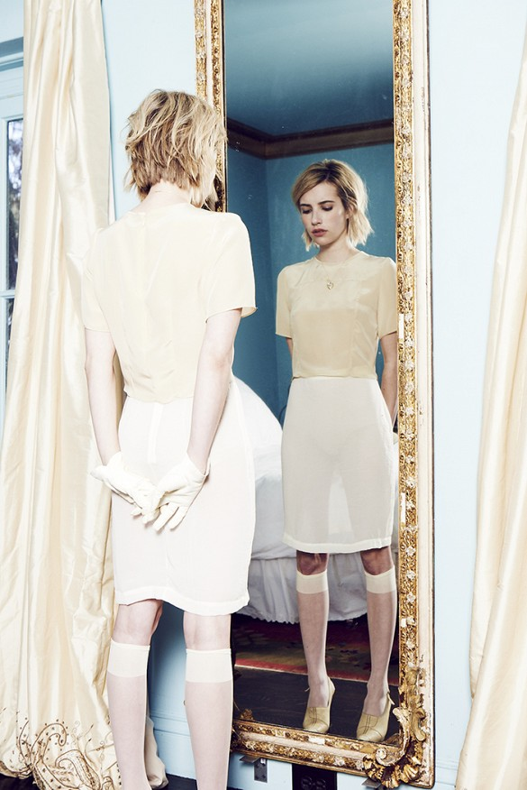 Emma Roberts for Elkin via  Who What Wear