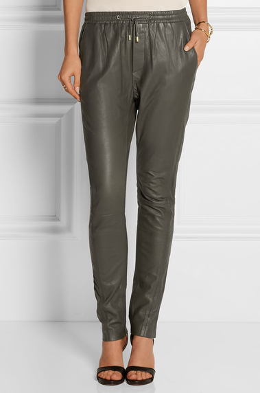 Leather pants + drawstring? Yes, we've all had our doubts but it CAN and SHOULD be done! | DAY BIRGER ET MIKKELSEN pants via  Net-a-Porter