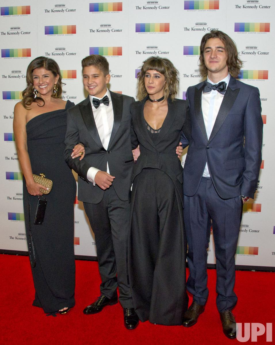 Cindy Frey, Taylor Frey, and other members of the Frey family attend the Kennedy Center Honors 2016. Glenn Frey of the Eagles was being honored.