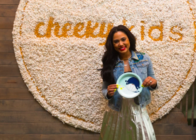 Ayesha Curry partnered with Cheeky kids and No Kid Hungry. For this event, MGK dressed Ms. Curry in Gucci.