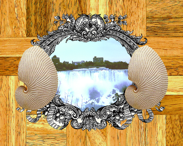 Niagra Falls II   Digital Collage Size Variable