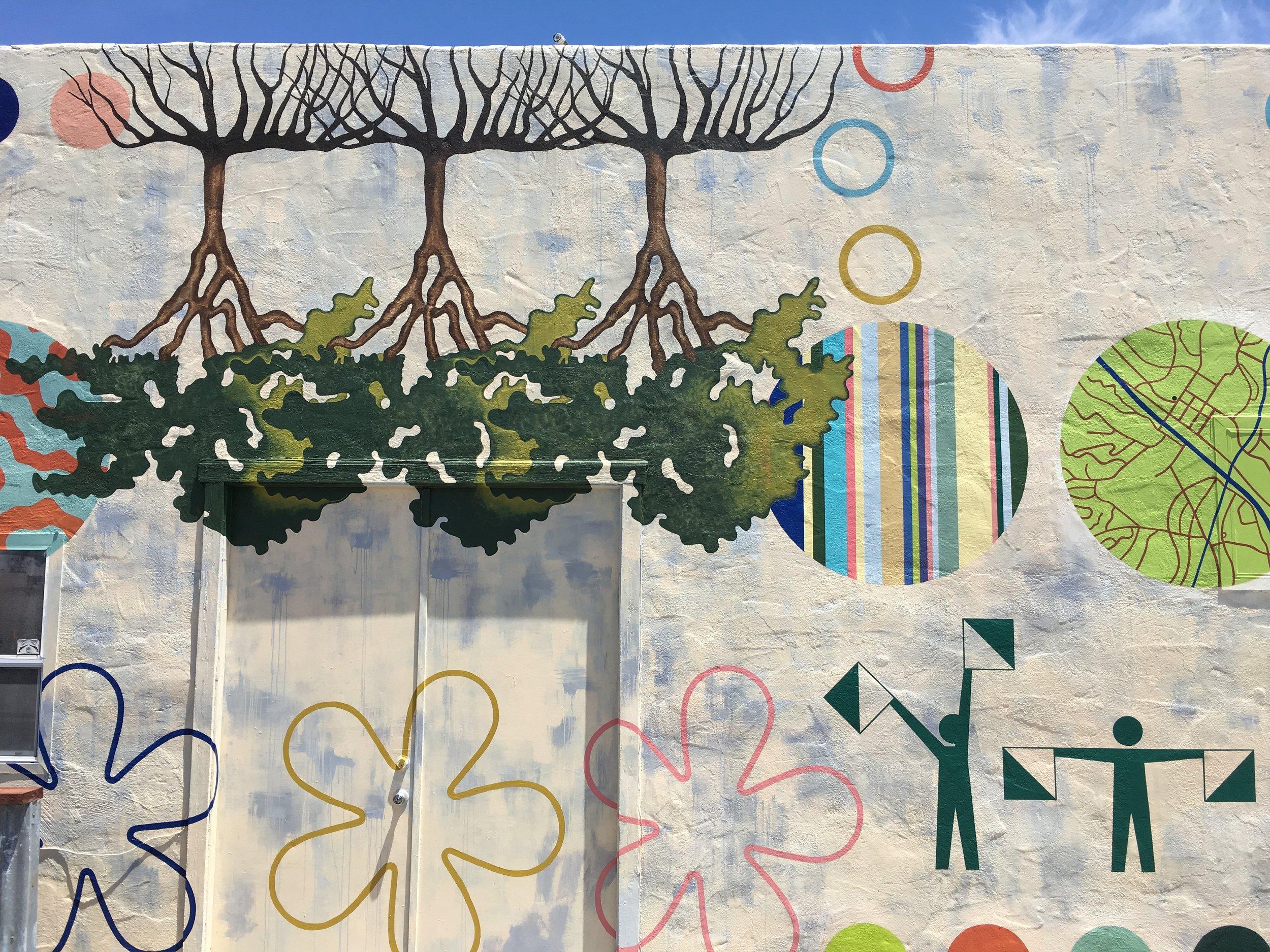 TREE CITY,   detail  Located on the ARTery Building  Atascadero, CA 15 feet x 50 feet 2018