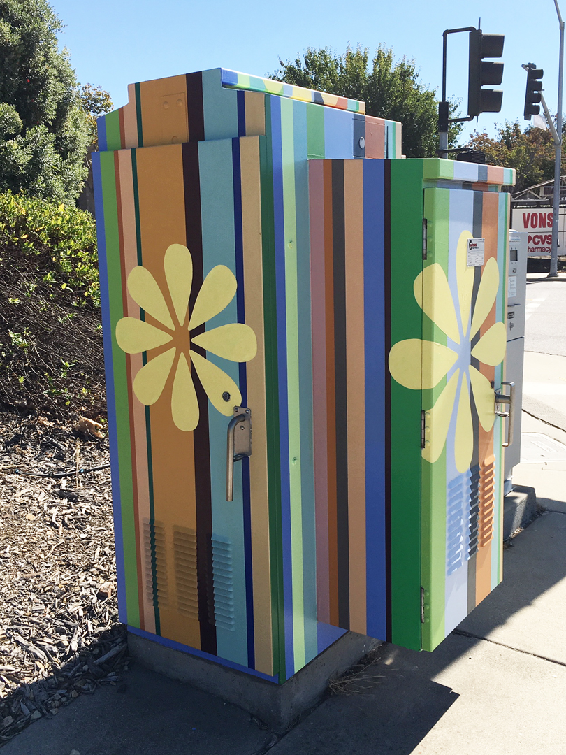 Flower Power   SLO Box Art Project Broad and Industrial Streets San Luis Obispo, CA 2018