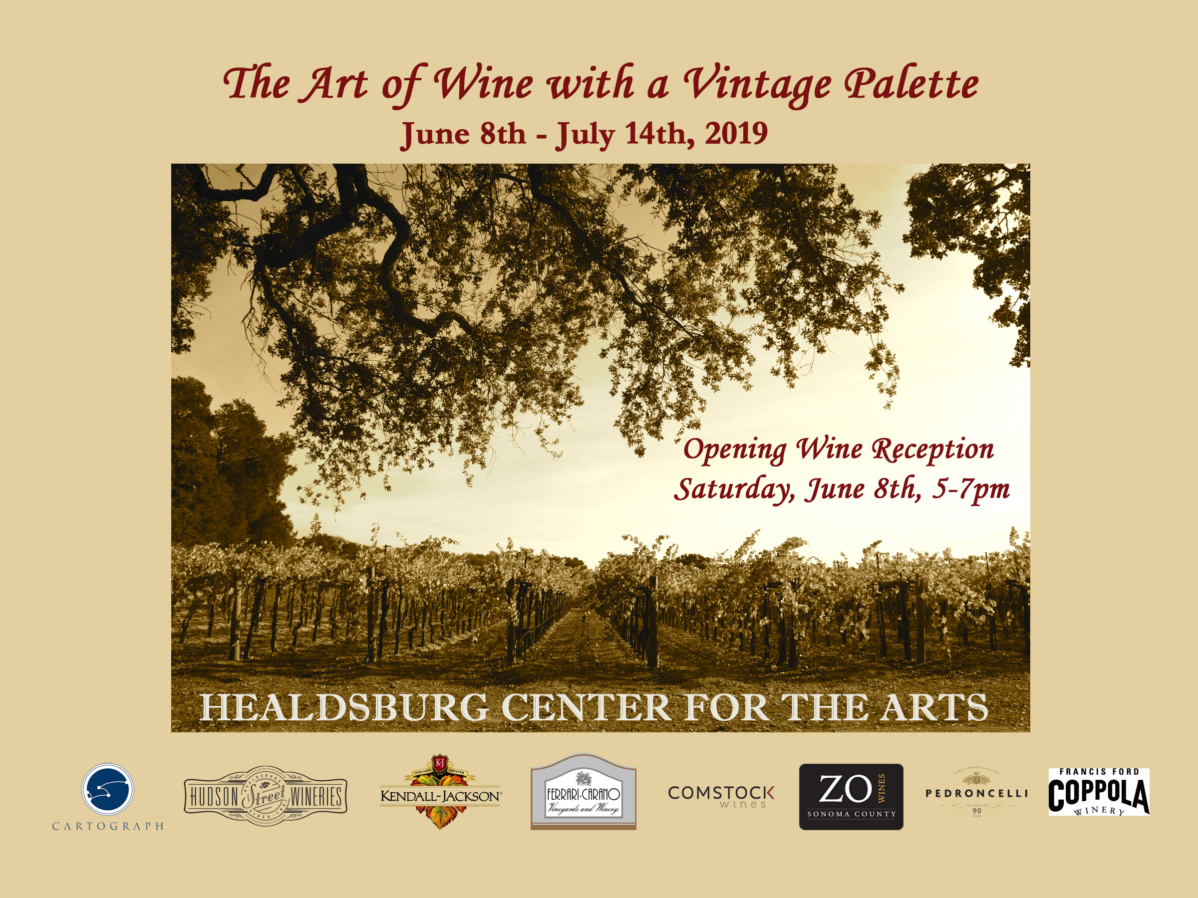 Wine Country Telephone   and   Wine Country Cowboys   included in this exhibition June 8-July 14, 2019