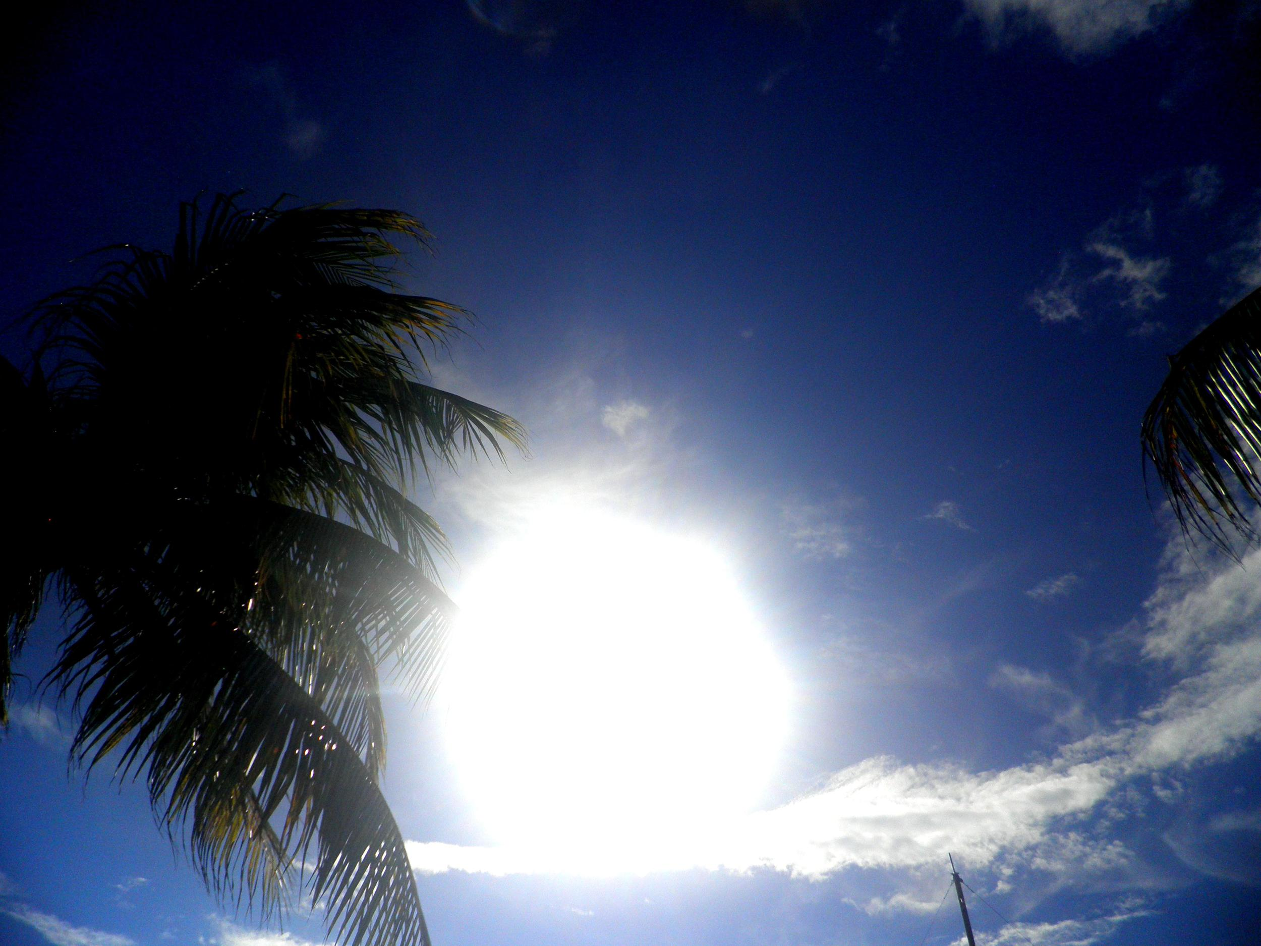 A photo of the magnificent sunshine in San Andres, Colombia.