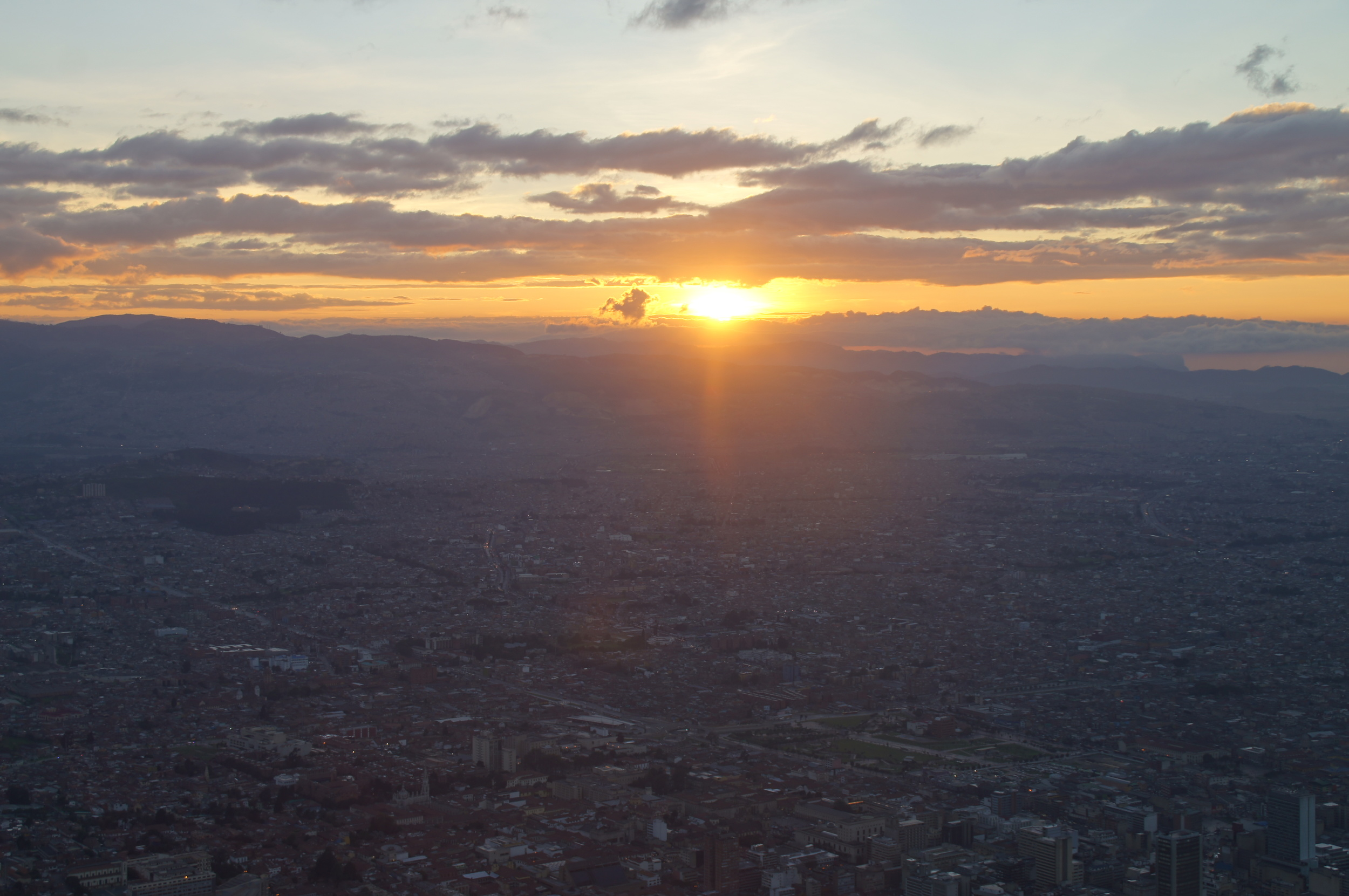 Sunset, Montserrate, Bogota. By Mitch Weisburg. Available    here