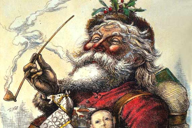 Santa Claus by Thomas Nast, Harper's Weekly, 1881. But is Santa Claus as famous in Latin America as he is in some Western countries? The audio podcast will tell you!