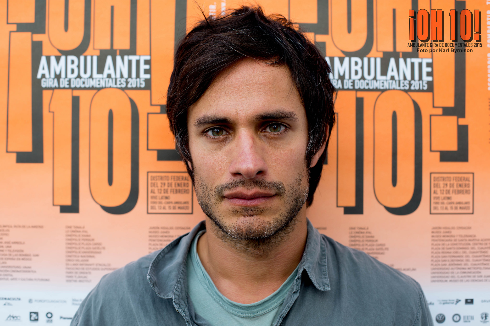 Mexican actor Gael Garcia Bernal. Source: Festival Ambulante. Available  here .