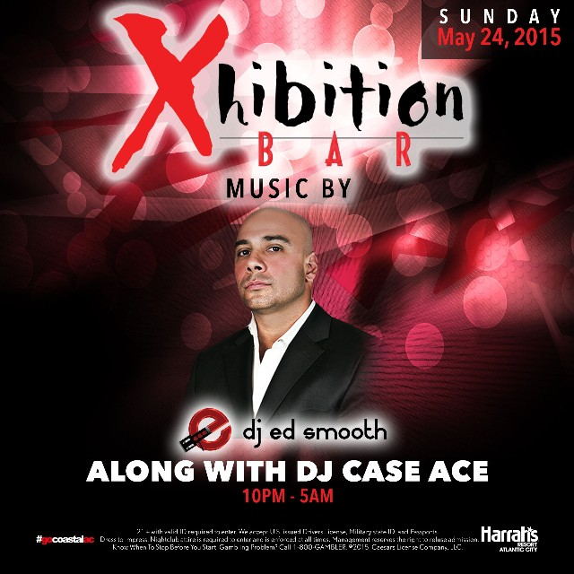 It's #MDW so we're still partying!! Tonight, the #SundayFunday soundtrack at the #XBar inside #HarrahsAC is provided by @djedsmooth and @djcaseace from 10pm-5am!! #csnightlife #ac #nyc #philly #edm #vip #jerseyshore #girlsnightout #ladiesnight #bachelorparty #bacheloretteparty #Harrahs #HarrahsAC #AtlanticCity #gocoastalac #guestlist #doac #mdw15 #mdw2015