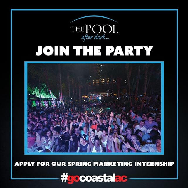 Beginning in the Spring 2016, @gocoastalac is looking for students who want to be a part of our paid internship program.  We are looking for individuals interested in: ▪Nightlife Management ▪Social Media Marketing ▪Event Planning ▪On and Off Site Promotions ▪VIP Hosting ▪Field Networking  This will be an exciting program designed to train interns interested in nightlife marketing and promotion. We are seeking fun, energetic, business minded, outgoing, amiable and reliable students only!  All students/individuals applying must fill out our online application at http://www.gocoastalac.com/internship/  Then submit a resume to nickcip@coastalge.com from now until February 5th.  #harrahsac #poolafterdark #doac #murmur #goldennugget #borgataac #borgata #harrahspool #harrahspoolac #vip #rowan #rutgers #stockton #acc #atlanticcounty #temple #newjersey #guestlist #ac #party #drinks #shots #gocoastal #gocoastalac #bottleservice #nightlife