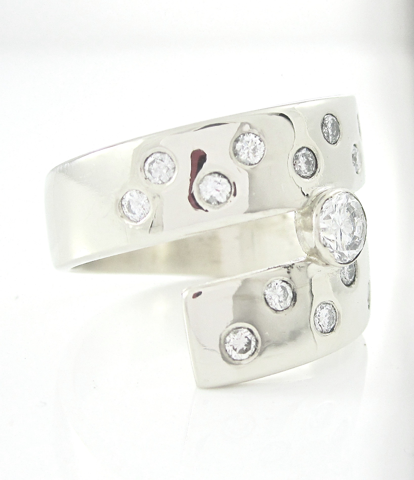 White Gold and Diamond Harmony Ring