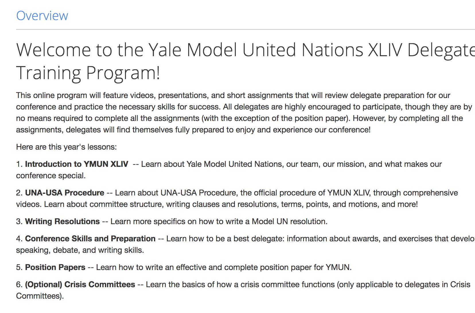 YMUN XLV Delegate Training - Please
