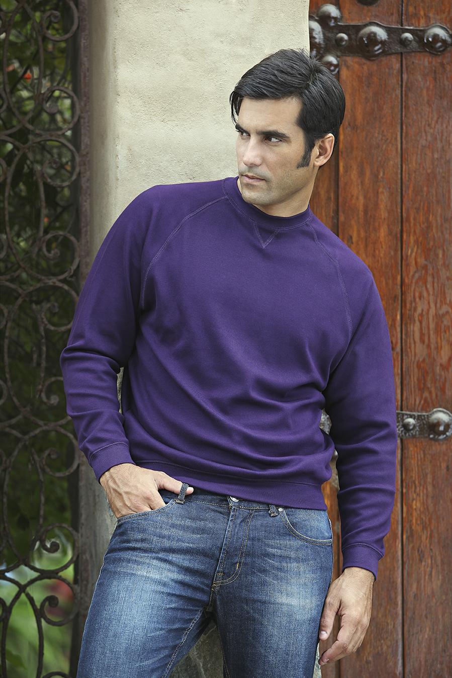 Pima Cotton Interlock Sweatshirt