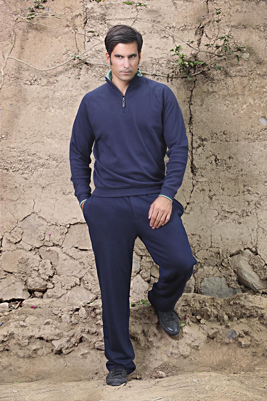 Pima Cotton 1/2 Zip & Sweatpants Interlock