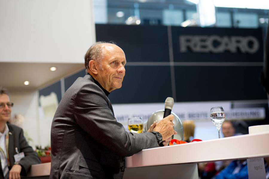 Hans-Joachim Stuck, Recaro @RetroClassicStuttgart, Messefotografie