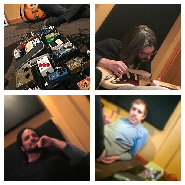 Tracked 7 Drum Tracks and many Guitar Overdubs with these guys……Fantastic Band!!