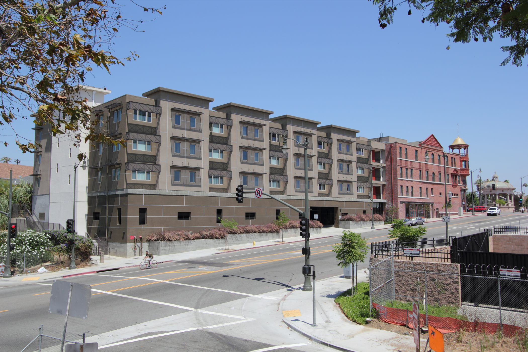 New affordable housing for mariachis, who congregate daily in the nearby Mariachi Plaza waiting to be hired.