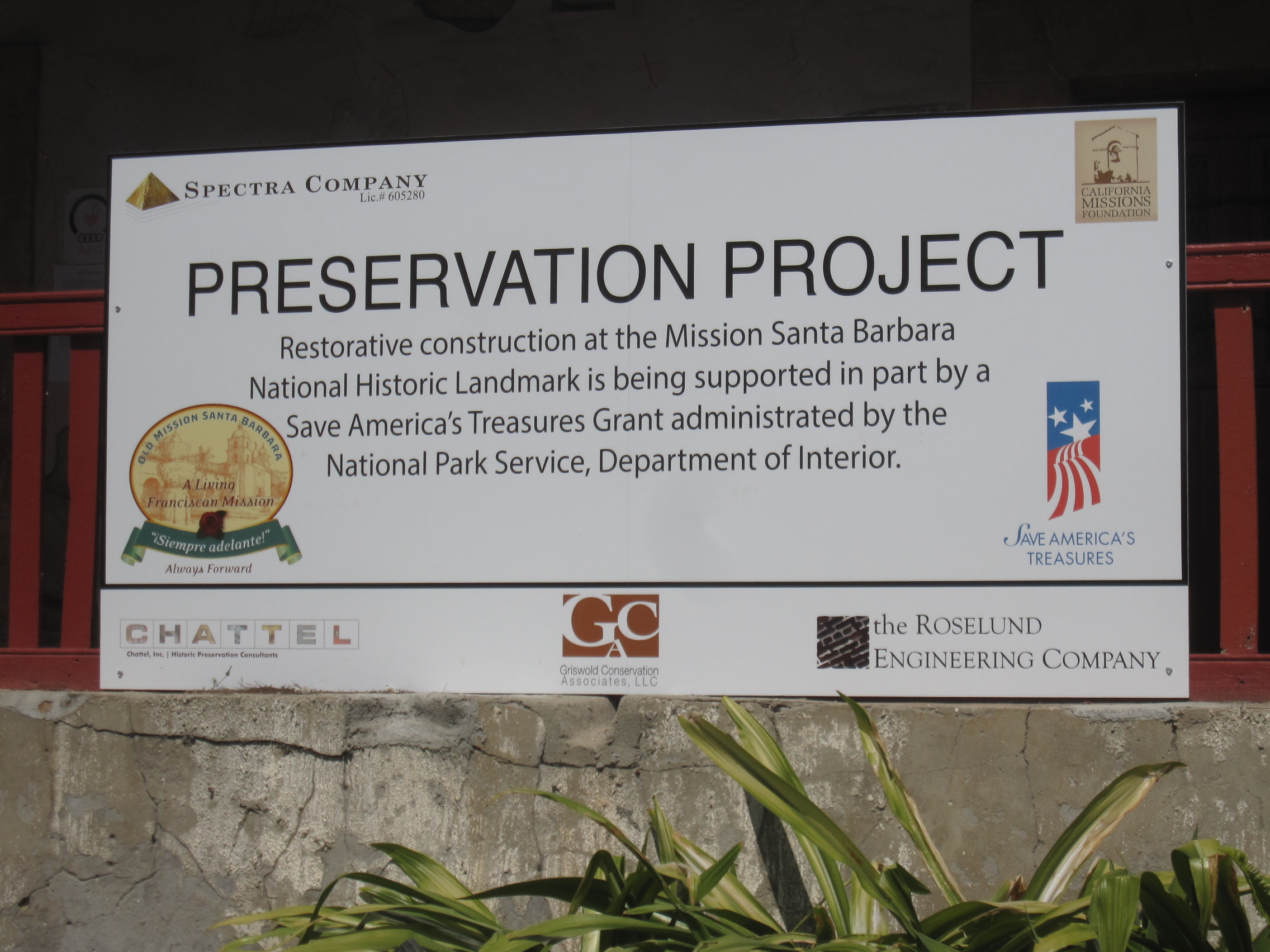 Project sign.