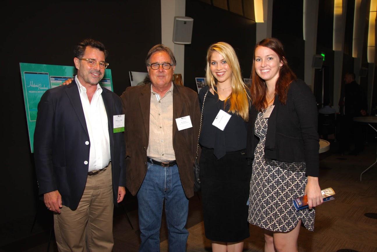 Left to right: Robert Chattel, USC Heritage Conservation Program Founder Ken Breisch, former Chattel Associate Kathryn McGee, and Chattel Associate Sarah Vonesh.