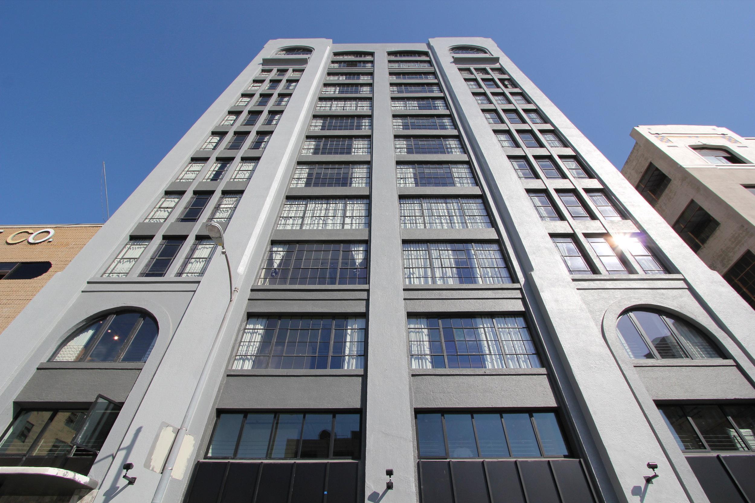 Exterior facade of Maxfield Building.