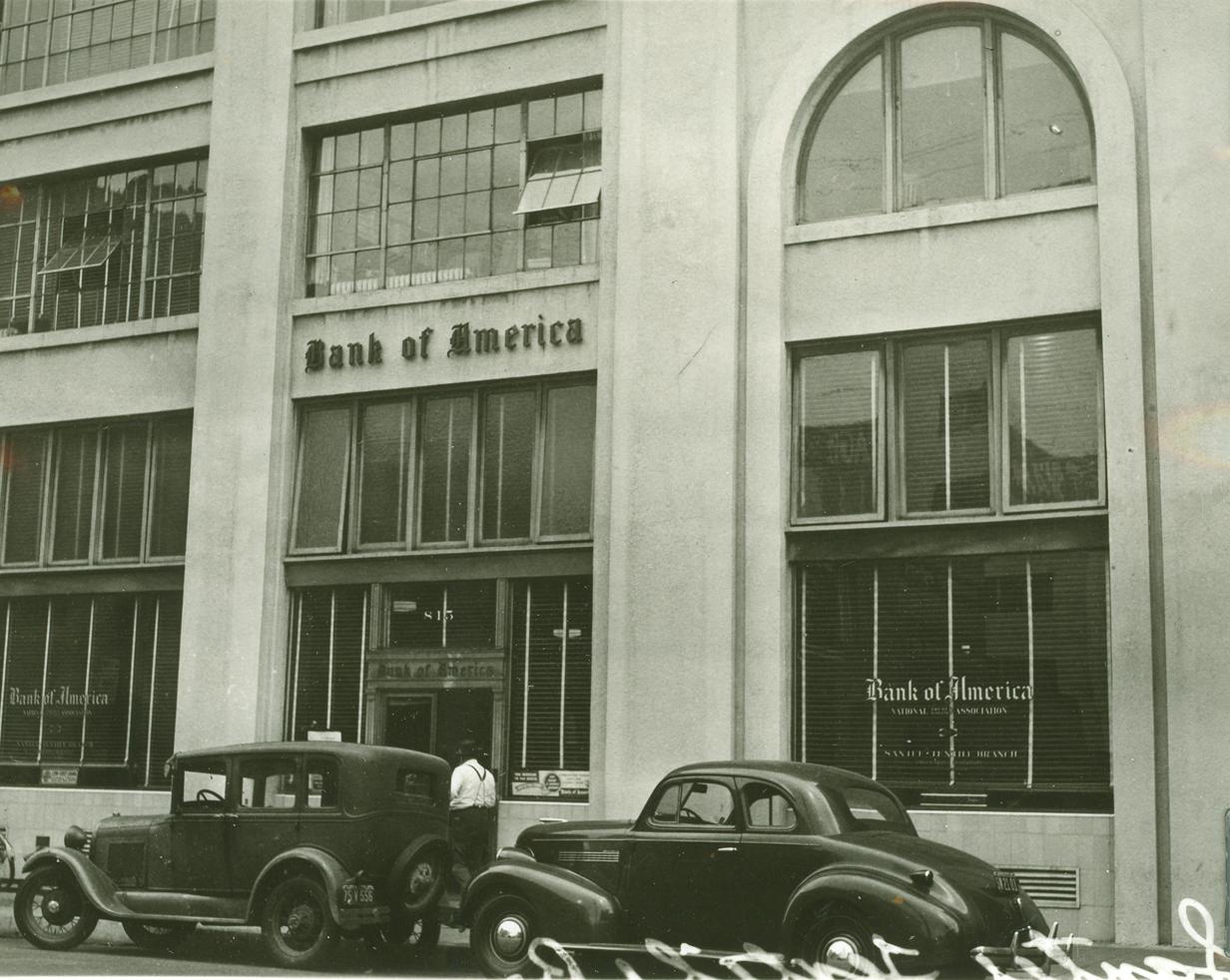 Maxfield Building facade, historic photograph.