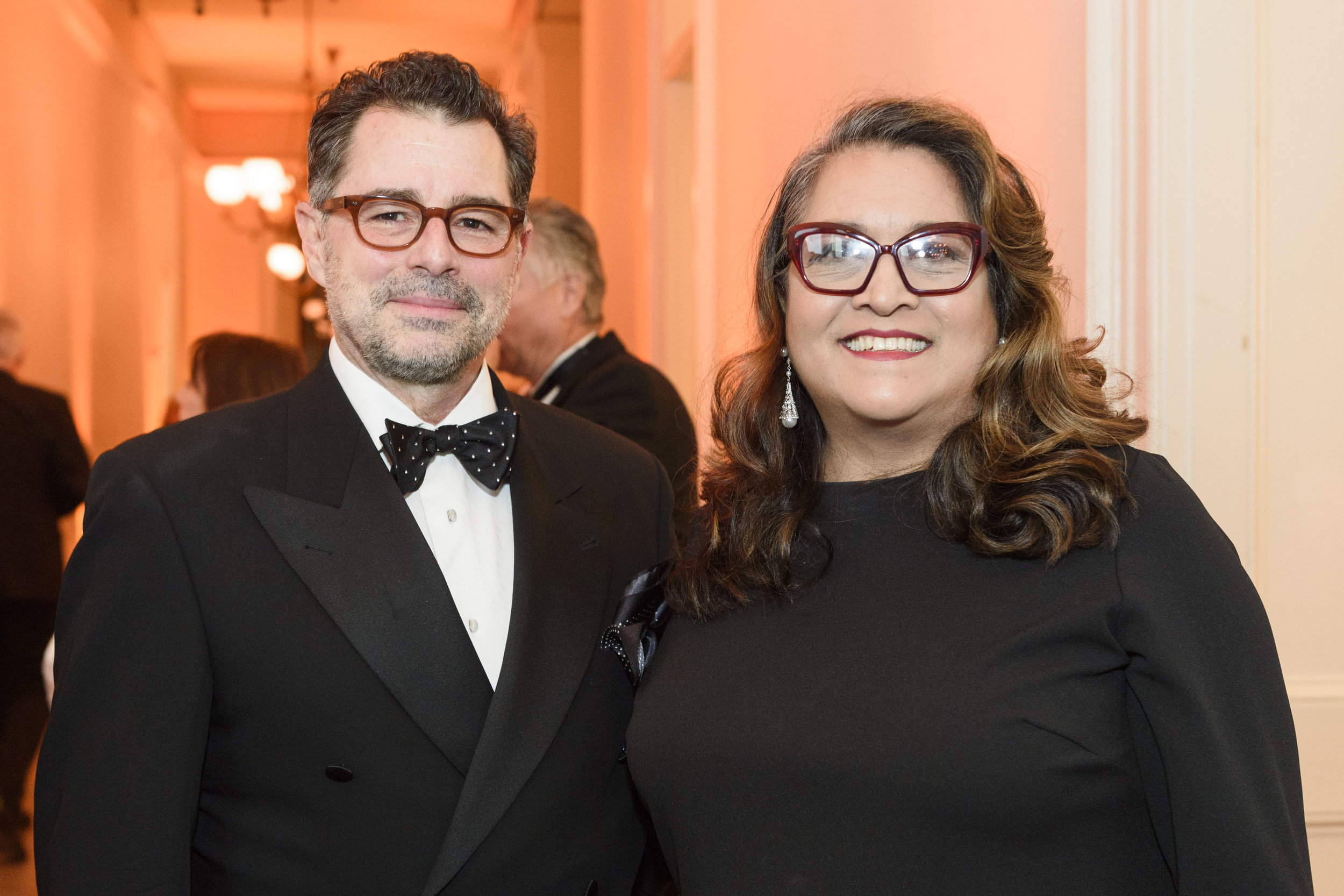 CHS President Emeritus Robert Chattel and SHPO Julianne Polanco at the 2018 Gala (Drew Altizer)